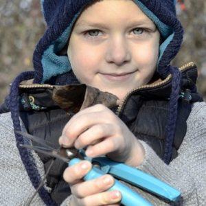 Ook in de winter kun je met kleuters en jonge kinderen in de moestuin van alles doen.